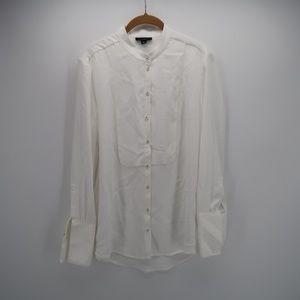 Victoria Beckham Sheer Button Down Shirt Blouse
